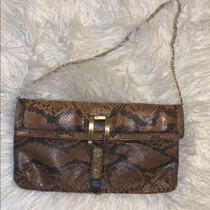 Handbags - Vintage Snakeskin Clutch by Varon